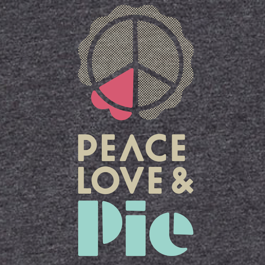 Peace, Love & Pie Logo Tshirt